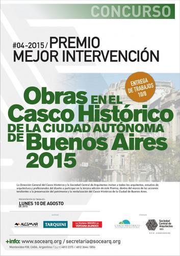 PRÓRROGA: Premio a la mejor intervención en obras localizadas en el Casco Histórico de la Ciudad Autónoma de Buenos Aires