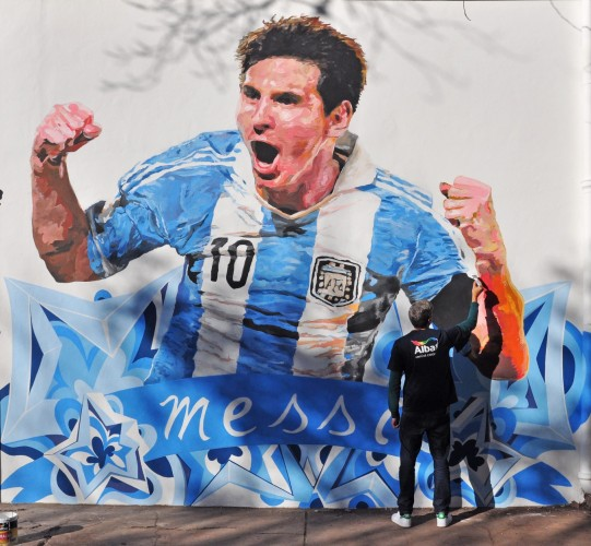 Vení al Color - Rosario - Mural Messi -