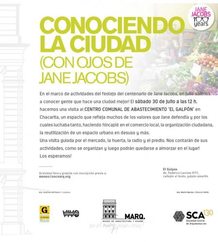 Conociendo la ciudad con ojos de Jane Jacobs