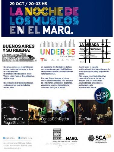 LA NOCHE DE LOS MUSEOS EN EL MARQ. Exposiciones, proyecciones y música en vivo!