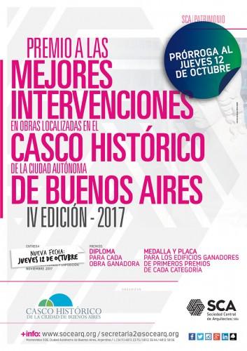 PRORROGA - Premio a las mejores intervenciones en obras localizadas en el Casco Histórico de la Ciudad Autónoma de Buenos Aires. IV Edición - 2017
