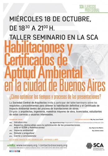 TALLER SEMINARIO -  HABILITACIONES Y CERTIFICADOS DE APTITUD AMBIENTAL EN LA CIUDAD DE BUENOS AIRES.