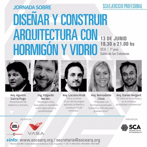 Jornada sobre Diseñar y Construir Arquitectura con Hormigón y Vidrio
