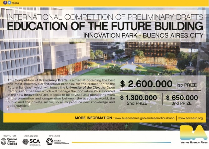 INTERNATIONAL COMPETITION OF PRELIMINARY DRAFTS EDUCATION OF THE FUTURE BUILDING