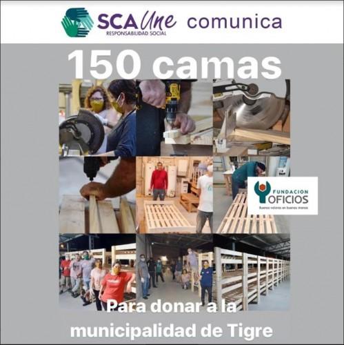Fundación Oficios: 150 camas para donar a la Municipalidad de Tigre