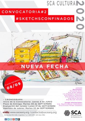 """¡NUEVA PRORROGA AL 8 DE SEPTIEMBRE! """"Scketchs Confinados"""" CONVOCATORIA"""