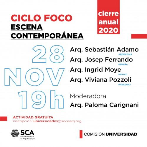 Sábado 28 de Noviembre, a las 19:00Hs. - Ciclo de charlas FOCO