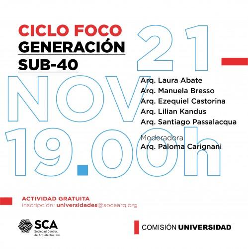 Sábado 21 de Noviembre, a las 19:00Hs. - Ciclo de charlas FOCO