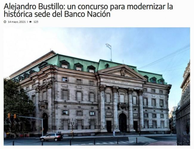 Alejandro Bustillo: un concurso para modernizar la histórica sede del Banco Nación