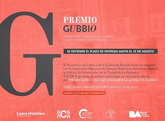 Premio Gubbio 2021: CIERRE PRORROGADO AL 15/8