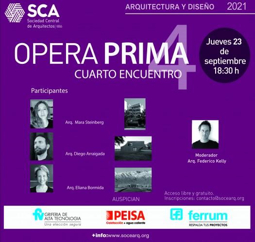 """Jueves 23 de septiembre, 18:30 horas – """"Opera Prima 2021 – 4° encuentro: Mara Steinberg, Diego Arraigada y Eliana Bormida"""""""
