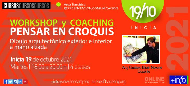 Inicia el 19/10/21 Workshop y Coaching – Pensar en Croquis