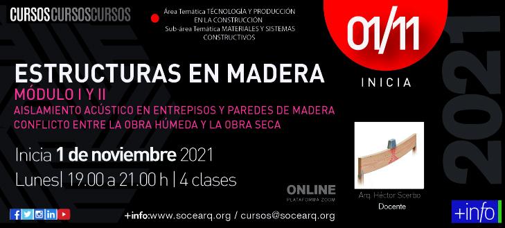 Inicia 01/11/2021 Estructuras en Madera