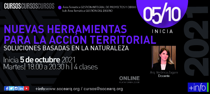 Inicia 05/10/2021 Nuevas Herramientas para la Acción Territorial – Soluciones basadas en la Naturaleza
